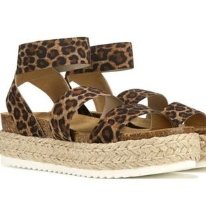Leopard single strap Espadrille